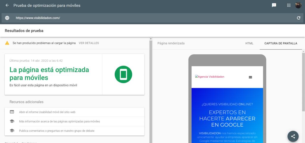 Ejemplo de auditoria para mobile